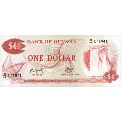 Guyana - Pick 21g_2 - 1 dollar - 1992 - Série B - Etat : NEUF
