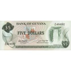 Guyana - Pick 22e - 5 dollars - 1989 - Série A - Etat : NEUF