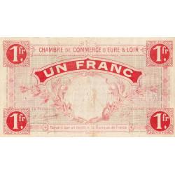 Chartres (Eure-et-Loir) - Pirot 45-3 - 1 franc - 1915 - Etat : TB+