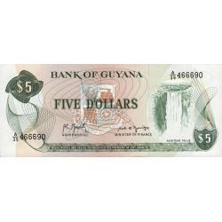 Guyana - Pick 22f_1 - 5 dollars - 1992 - Série A - Etat : NEUF