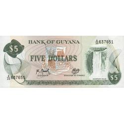 Guyana - Pick 22f_2 - 5 dollars - 1992 - Série A - Etat : NEUF
