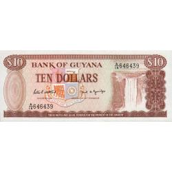 Guyana - Pick 23d - 10 dollars - 1989 - Série A - Etat : NEUF