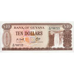 Guyana - Pick 23f - 10 dollars - 1992 - Série A - Etat : NEUF