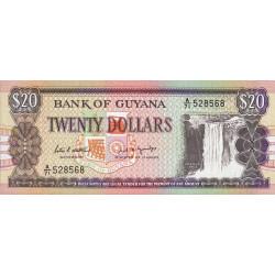 Guyana - Pick 27_1 - 20 dollars - 10/10/1988 - Série A - Etat : NEUF