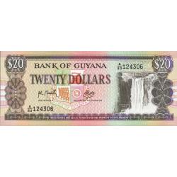 Guyana - Pick 27_2 - 20 dollars - 1989 - Série A - Etat : NEUF