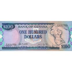 Guyana - Pick 28_1 - 100 dollars - 10/10/1988 - Série A - Etat : NEUF