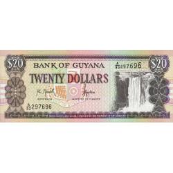Guyana - Pick 30a - 20 dollars - 16/09/1996 - Série A - Etat : NEUF