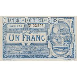 Auch (Gers) - Pirot 15-3-C - 1 franc - 1914 - Etat : SPL