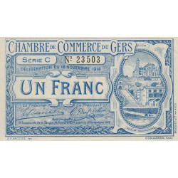 Auch (Gers) - Pirot 15-3 - Série C - 1 franc - 1914 - Etat : SPL