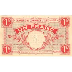 Chartres (Eure-et-Loir) - Pirot 45-3 - 1 franc - 01/10/1915 - Etat : SUP