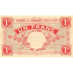 Chartres (Eure-et-Loir) - Pirot 45-3 - 1 franc - 1915 - Etat : SUP