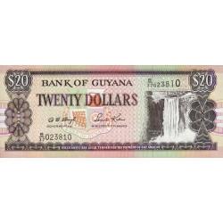 Guyana - Pick 30b_2 - 20 dollars - 2002 - Série B - Etat : NEUF