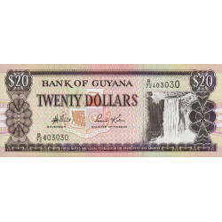 Guyana - Pick 30d - 20 dollars - 2004 - Série B - Etat : NEUF