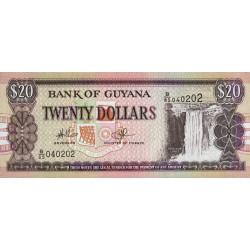 Guyana - Pick 30e_1 - 20 dollars - 2006 - Série B - Etat : NEUF
