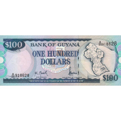 Guyana - Pick 31_1 - 100 dollars - 16/03/1998 - Série A - Etat : NEUF