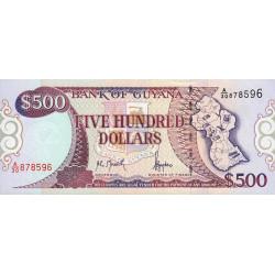 Guyana - Pick 32 - 500 dollars - 11/10/1996 - Série A - Etat : NEUF