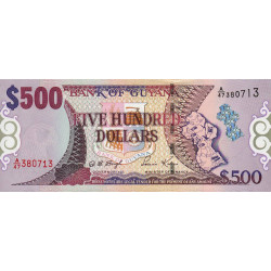 Guyana - Pick 34b - 500 dollars - 24/01/2000 - Série A - Etat : NEUF