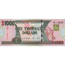 Guyana - Pick 35_2 - 1'000 dollars - 16/12/1999 - Série A - Etat : NEUF