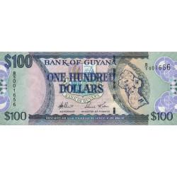 Guyana - Pick 36a - 100 dollars - 29/03/2006 - Série B - Etat : NEUF