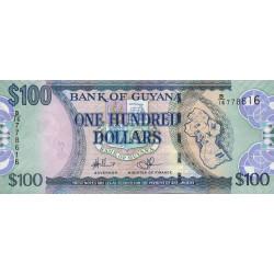 Guyana - Pick 36b_1 - 100 dollars - 2009 - Série B - Etat : NEUF