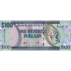 Guyana - Pick 36b_2 - 100 dollars - 2012 - Série B - Etat : NEUF