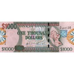 Guyana - Pick 39a - 1'000 dollars - 29/03/2006 - Série A - Etat : NEUF