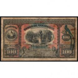 Guatémala - Pick S 182b - 100 pesos - 01/08/1916 - Etat : B