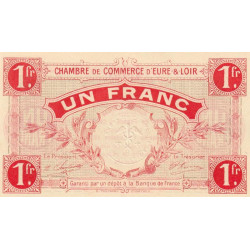Chartres (Eure-et-Loir) - Pirot 45-3 - 1 franc - 1915 - Etat : NEUF