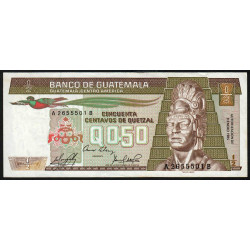 Guatémala - Pick 65_4 - 0,5 quetzal - 09/01/1985 - Série AB - Etat : SUP