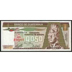Guatémala - Pick 65_4 - 0,50 quetzal - 09/01/1985 - Série AB - Etat : SUP
