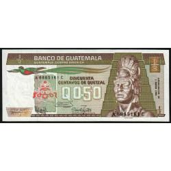 Guatémala - Pick 65_5 - 0,50 quetzal - 03/01/1986 - Série AC - Etat : NEUF