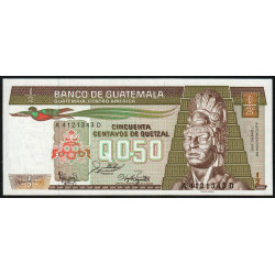 Guatémala - Pick 65_7 - 0,50 quetzal - 07/01/1987 - Série AD - Etat : NEUF