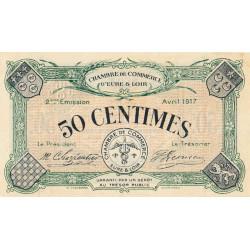 Chartres (Eure-et-Loir) - Pirot 45-5 - 50 centimes - 1917 - Etat : SPL