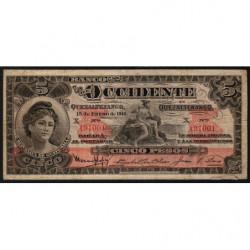 Guatémala - Pick S 177 - 5 pesos - 15/01/1918 - Série X - Etat : B