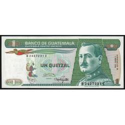 Guatémala - Pick 66_4 - 1 quetzal - 03/01/1986 - Série BE - Etat : NEUF