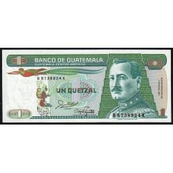 Guatémala - Pick 66_5 - 1 quetzal - 07/01/1987 - Série BK - Etat : NEUF