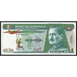 Guatémala - Pick 66_7 - 1 quetzal - 04/01/1989 - Série BR - Etat : NEUF