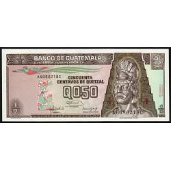 Guatémala - Pick 72b - 0,50 quetzal - 14/02/1992 - Série AC - Etat : NEUF