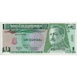 Guatémala - Pick 73b - 1 quetzal - 06/03/1991 - Série BD - Etat : NEUF