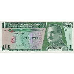 Guatémala - Pick 73c - 1 quetzal - 22/01/1992 - Série BF - Etat : NEUF