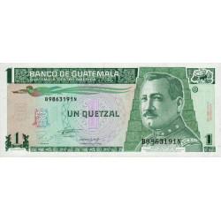 Guatémala - Pick 87a - 1 quetzal - 27/10/1993 - Série BN - Etat : NEUF