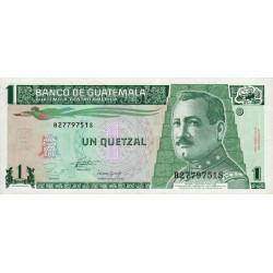 Guatémala - Pick 87a - 1 quetzal - 27/10/1993 - Série BS - Etat : SUP
