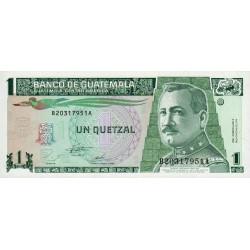 Guatémala - Pick 87c - 1 quetzal - 06/09/1995 - Série BA - Etat : NEUF