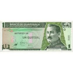 Guatémala - Pick 99 - 1 quetzal - 09/01/1998 - Série BB - Etat : NEUF