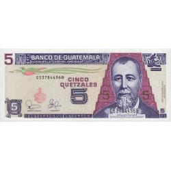 Guatémala - Pick 106a - 5 quetzales - 12/02/2003 - Série CB - Etat : NEUF