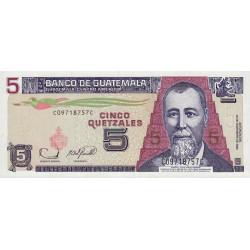 Guatémala - Pick 106b - 5 quetzales - 22/11/2006 - Série CC - Etat : NEUF