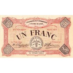 Chartres (Eure-et-Loir) - Pirot 45-7 - 1 franc - 1917 - Etat : SPL+