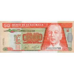 Guatémala - Pick 113b - 50 quetzales - 17/01/2007 - Série FB - Etat : NEUF