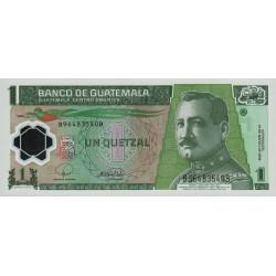Guatémala - Pick 115a - 1 quetzal - 12/03/2008 - Série BB - Polymère - Etat : NEUF