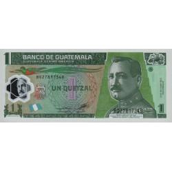 Guatémala - Pick 115b - 1 quetzal - 02/05/2012 - Série BB - Polymère - Etat : NEUF